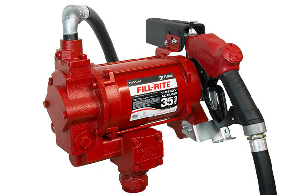 Picture of FILL-RITE FR310VB 115/230V 35 GPM FUEL TRANSFER PUMP WITH DISCHARGE HOSE, AUTOMATIC NOZZLE