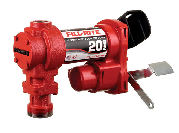 Picture of FILL-RITE FR4210G 12V 20 GPM FUEL TRANSFER PUMP (MANUAL NOZZLE, DISCHARGE HOSE, SUCTION PIPE)