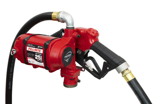 Picture of FILL-RITE NX25-120NB-AA 120V 25 GPM CONTINUOUS DUTY NPT THREADED BUNG MOUNTED FUEL TRANSFER PUMP W/DISCHARGE HOSE & AUTOMATIC NOZZLE