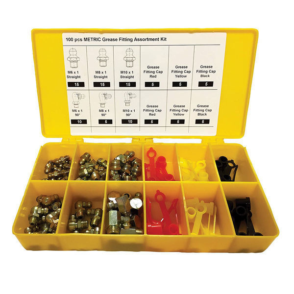 Picture of NATIONAL SPENCER/ZEE LINE 10066 METRIC GREASE FITTING KIT - 100-PC.