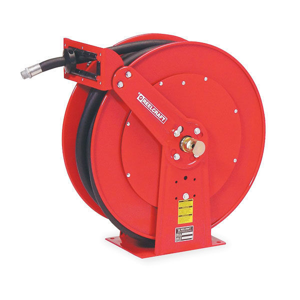 "Picture of REELCRAFT FD84050 OLP SPRING RETRACTABLE FUEL HOSE REEL, 1"" X 50', 250 PSI, FUEL HOSE INCLUDED"